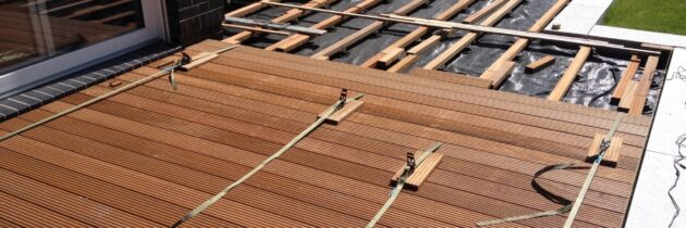 Holzterrasse aus Bangkirai